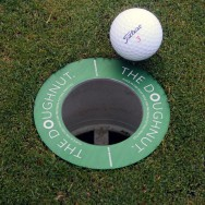 """The Doughnut"" Golf Hole Reducer For Short Putt Practice"